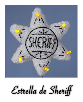 Patrón gratis de estrella de Sheriff