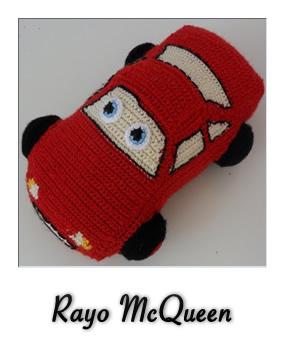 Patrón gratis de Rayo McQueen