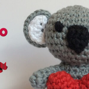 Patron libre de amigurumi Koala amoroso