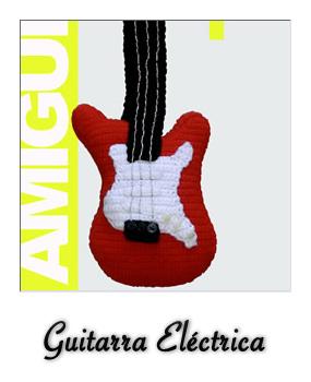 patron gratis amigurumi guitarra electrica