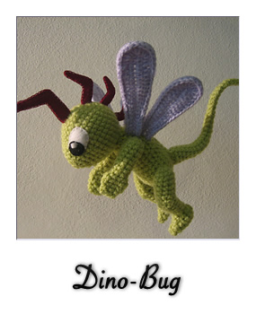 patron gratis amigurumi dino-bug