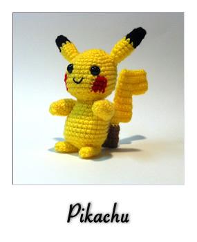 patron gratis amigurumi pikachu