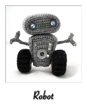 patron gratis amigurumi robot