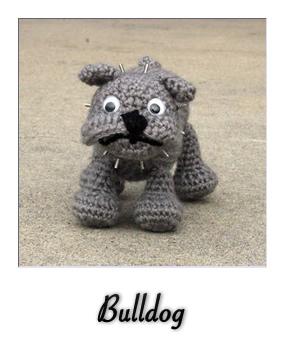 Mini Amigurumi Pug Free Crochet Pattern | móhu | 350x285