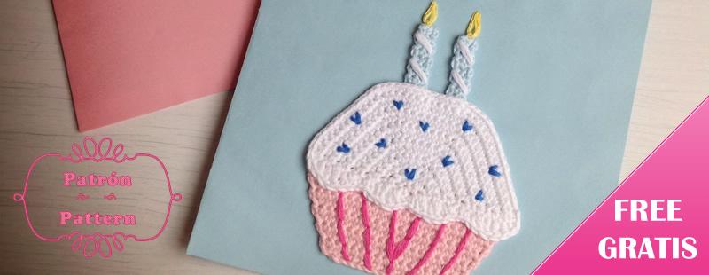patron gratis de cupcake de cumpleaños