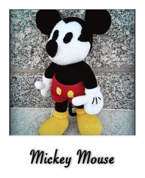 patron gratis amigurumi mickey mouse