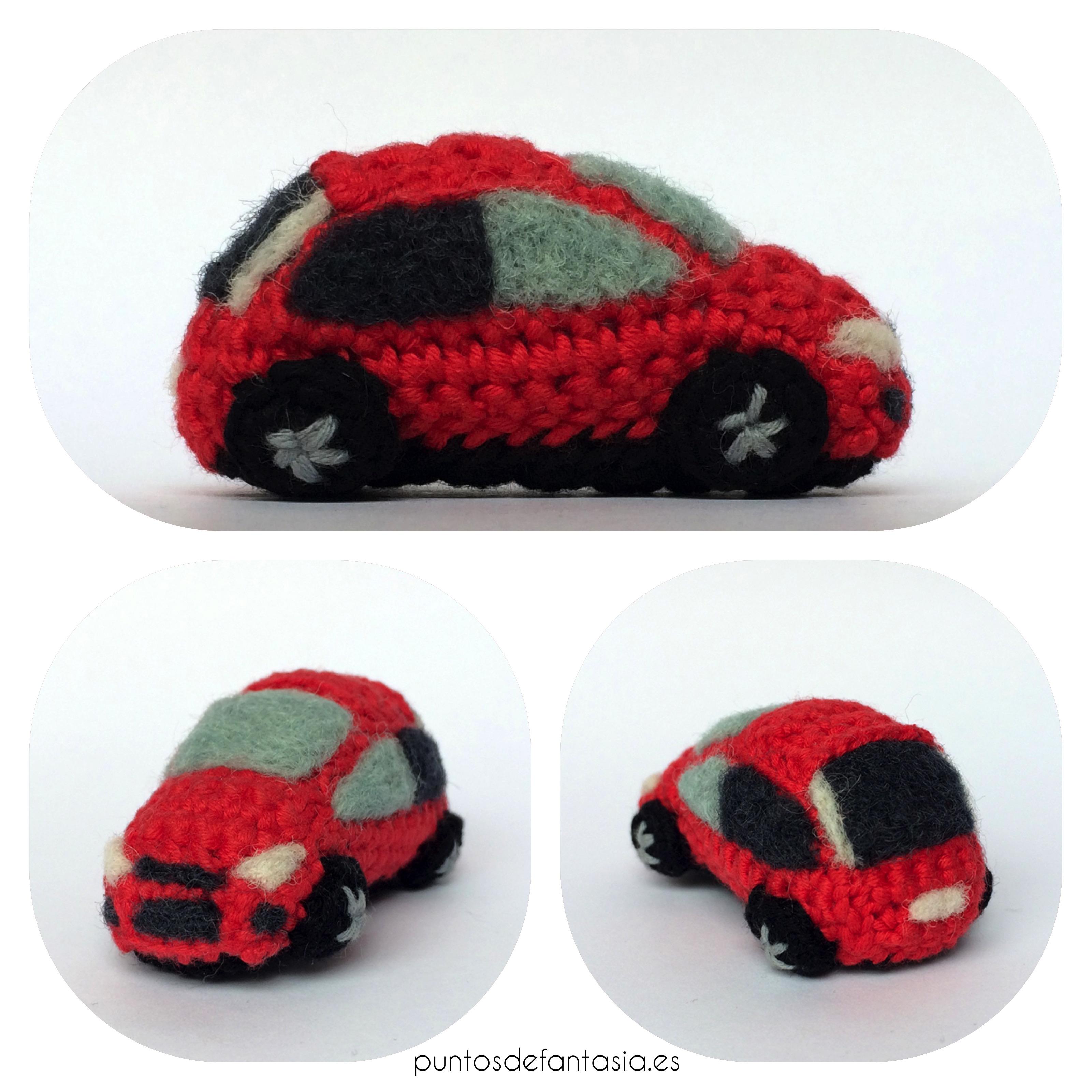 amigurumi mini coche focus