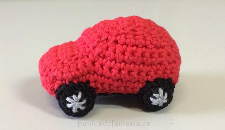 prueba chibi coche amigurumi