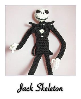 patron gratis amigurumi jack skeleton