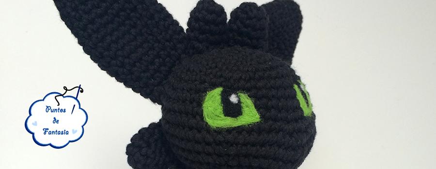 amigurumi dragon desdentado