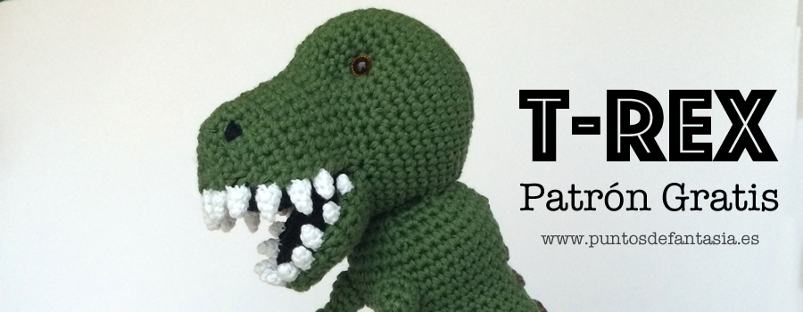 Patron Gratis Amigurumi T-Rex - Puntos de Fantasía - Blog
