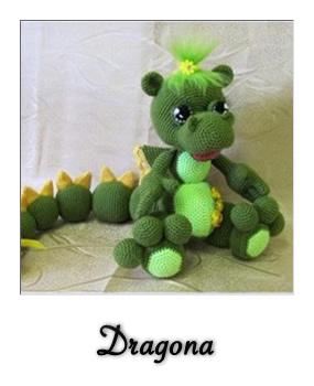 patron gratis amigurumi dragona