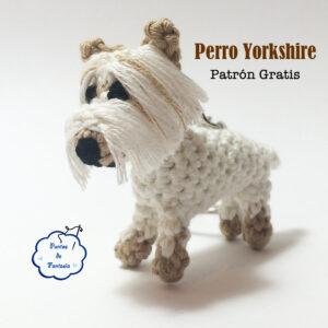 patron gratis amigurumi perro yorkshire