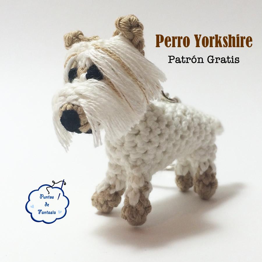 Perro Pug Amigurumi Patron Gratis : patron gratis amigurumi perro yorkshire