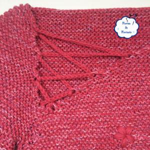 jersey tricot flores cuello