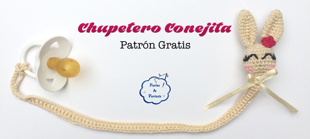 Patron Gratis de Chupetero Conejita - Puntos de Fantasía