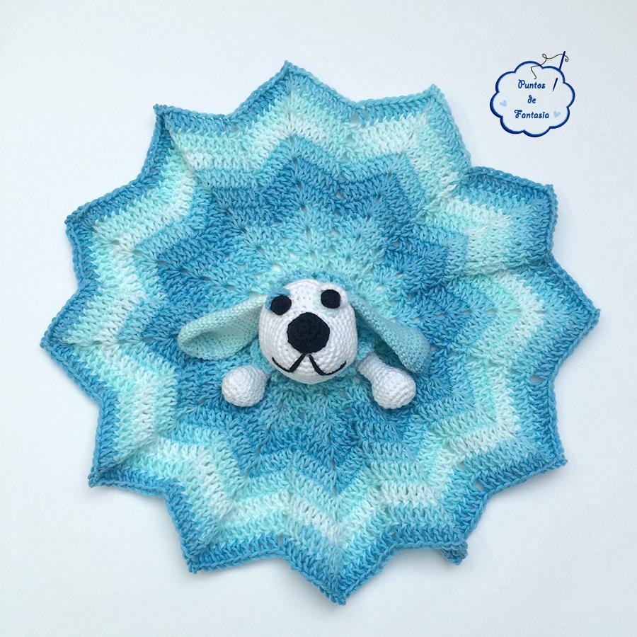 manta de apego perro crochet puntos de fantasia - Puntos de Fantasía ...
