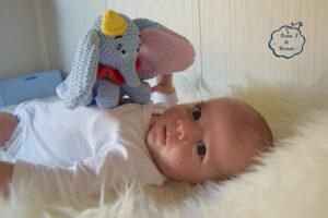 Arturo y Dumbo amigurumi
