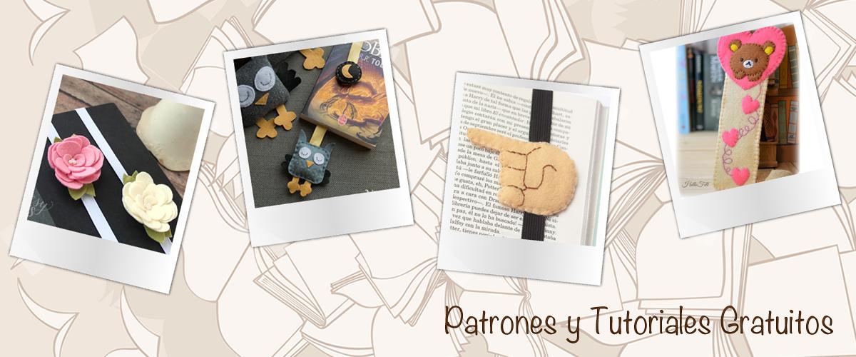 Recopilación de patrones y tutoriales gratuitos: Marcapáginas de fieltro