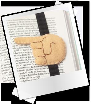 Patrones y tutoriales gratuitos: marcapáginas de fieltro mano