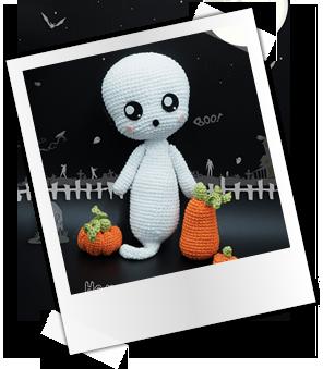 Patrones y tutoriales gratuitos: Amigurumis Halloween - fantasma