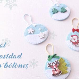 Tutorial de Bolas de Navidad en Fieltro