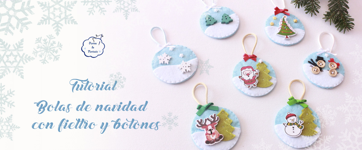 Free Tutorial - Christmas Balls with Felt and Buttons