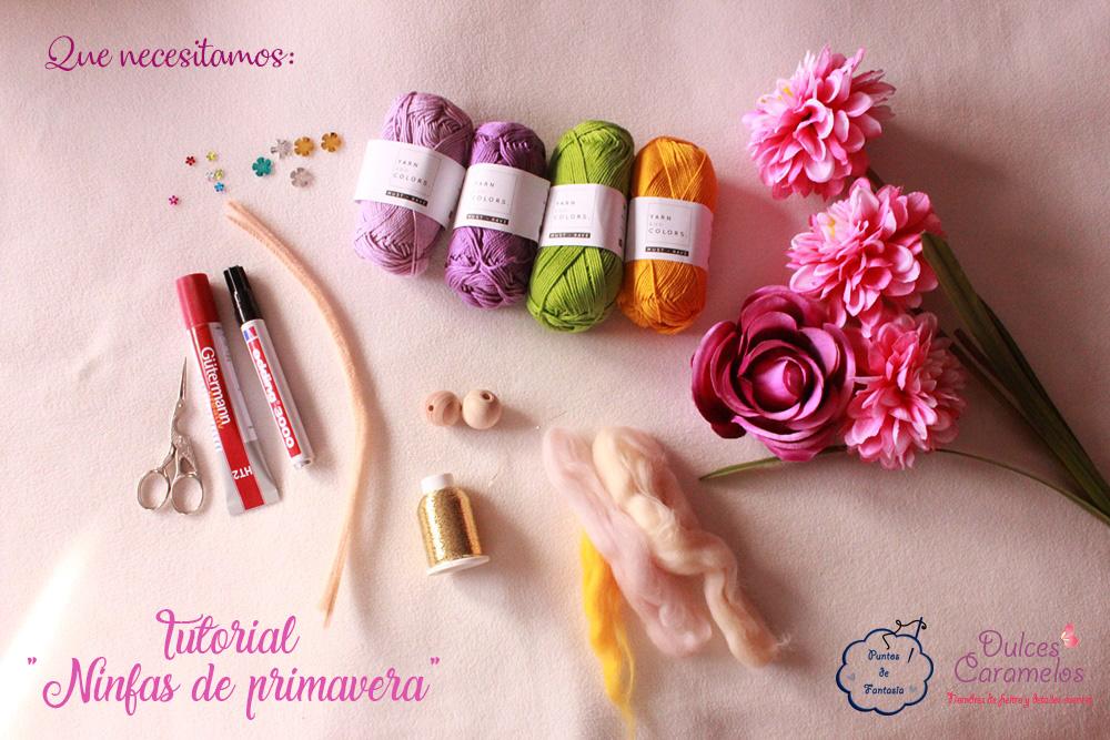 Tutorial Ninfas de Primavera con lana de fieltrar y flores