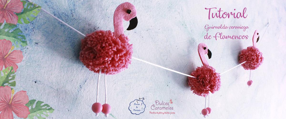 Tutorial of yarn and felt flamingos