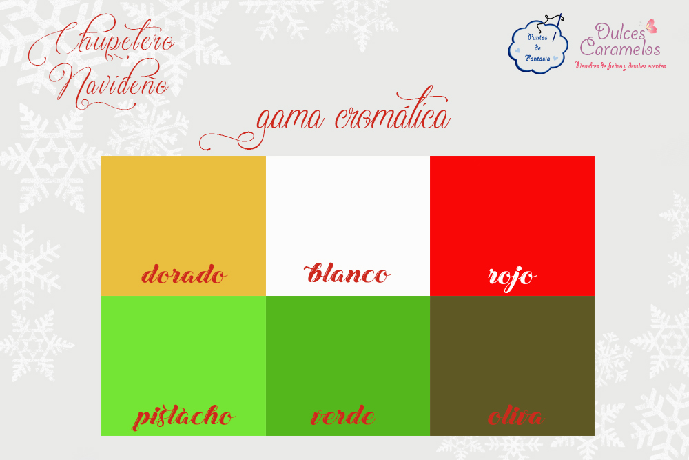 gama cromatica navidad
