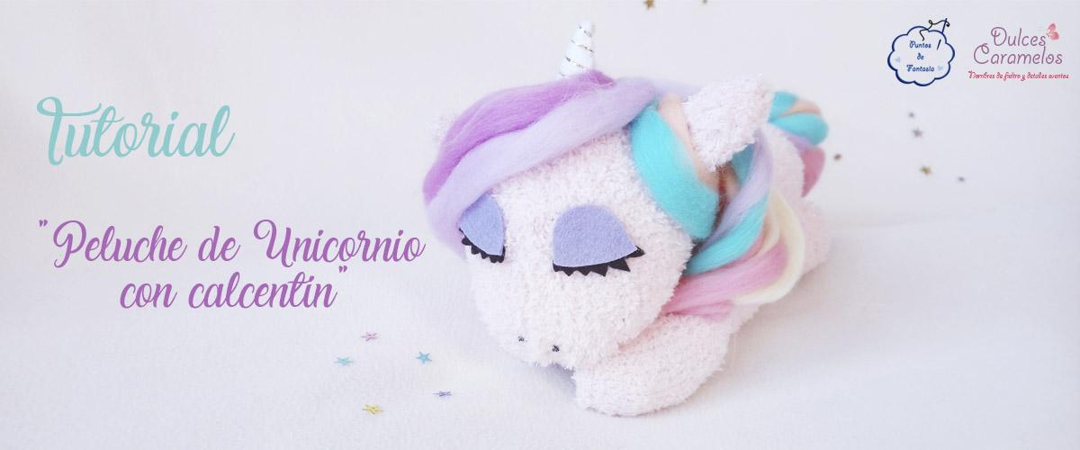 Tutorial peluche unicornio con calcetin