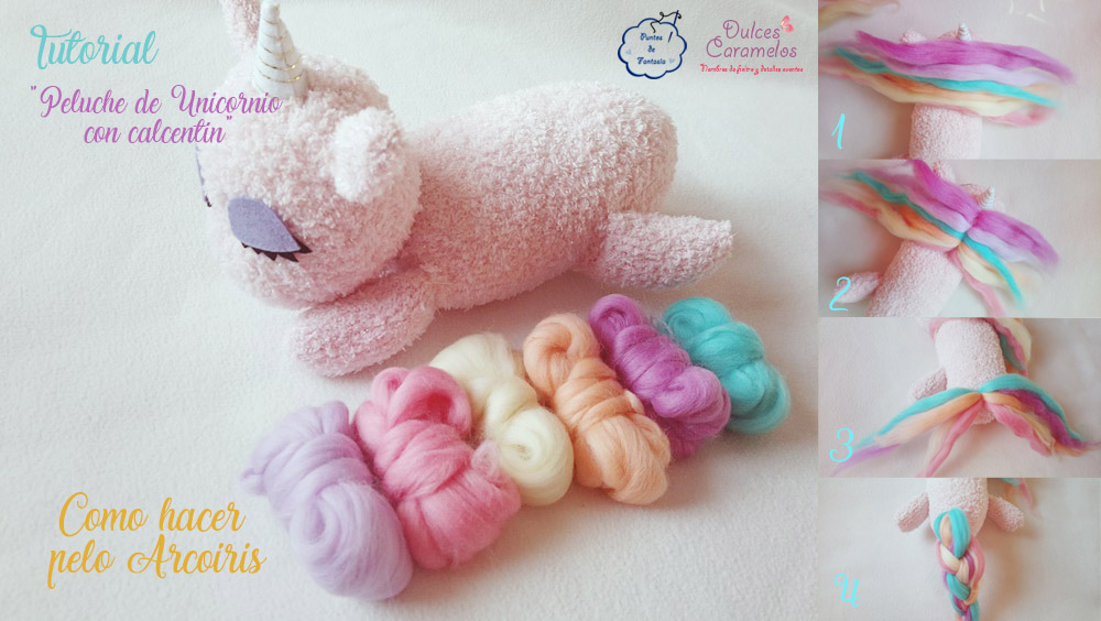 tutorial unicornio pelo arcoiris