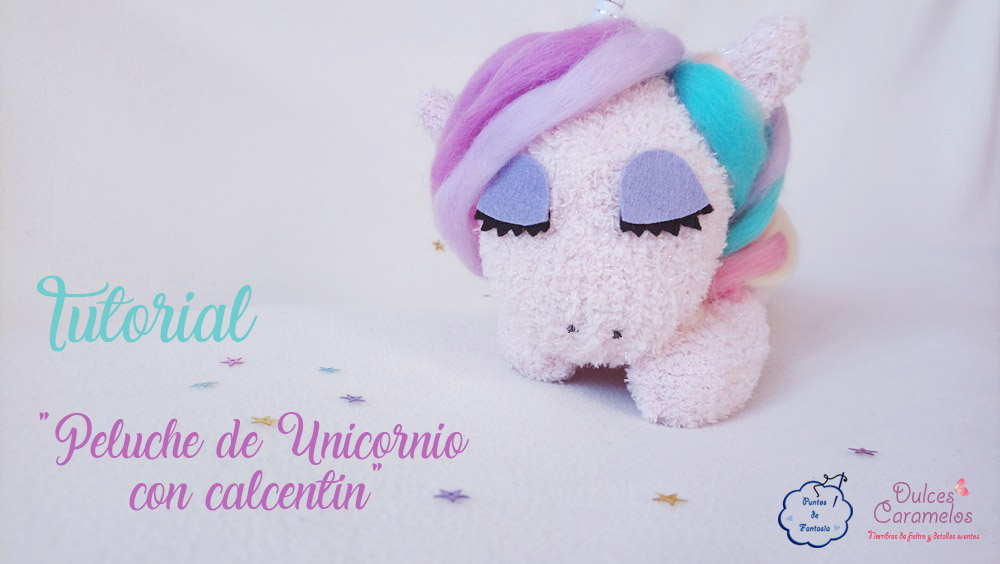 tutorial unicornio calcetin