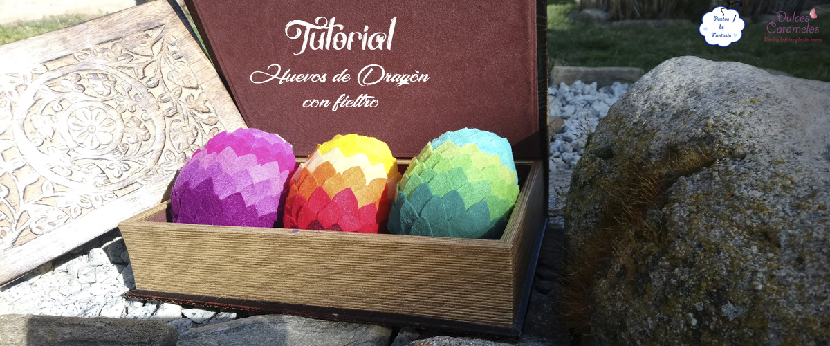 tutorial huevos dragon fieltro