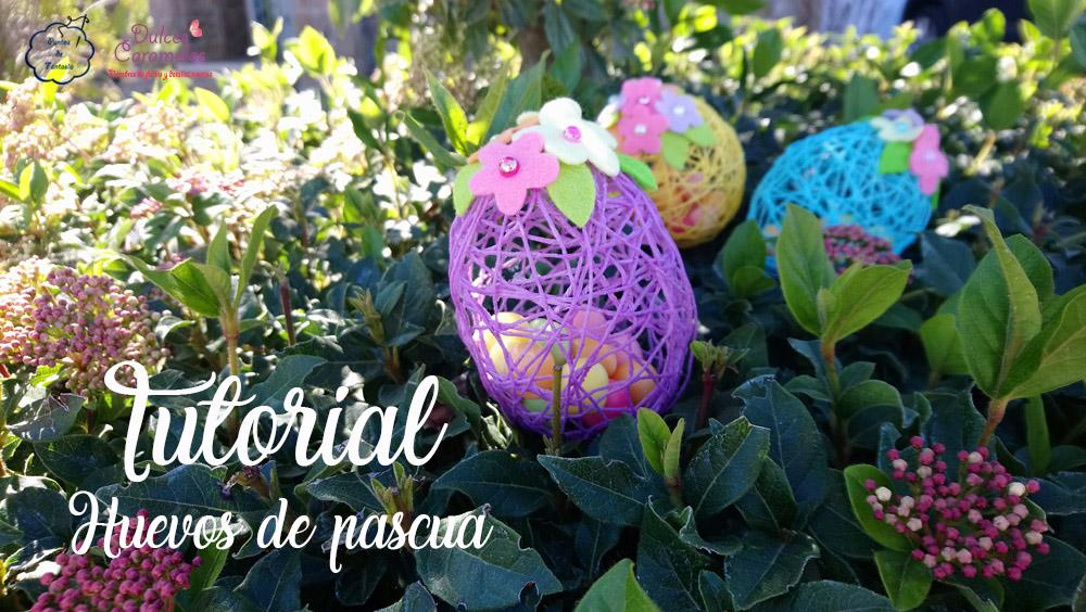 Tutorial huevos de pascua con lana