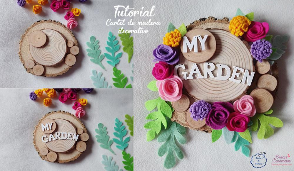 Tutorial cartel de madera decorativo