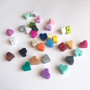 Mini corazones de silicona alimentaria