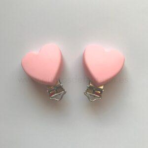 Clips de corazón de silicona