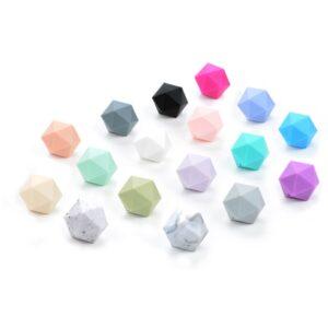 Icosaedros de silicona alimentaria 24mm