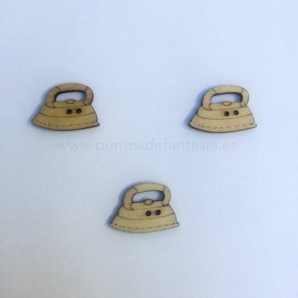 Botones Madera plancha