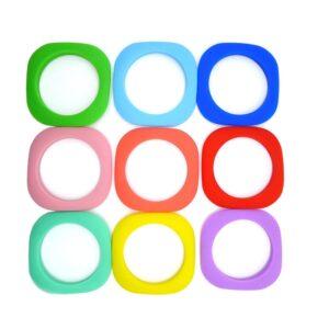 Cuadrados de silicona alimentaria 90mm