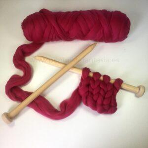 Agujas de tricot madera XL