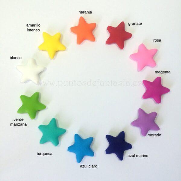 Estrellas de silicona alimentaria 40mm