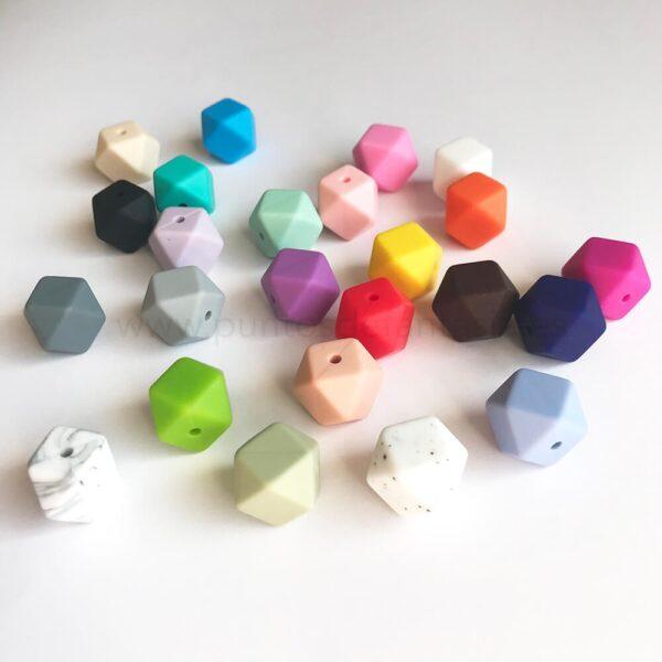Mini poliedros de silicona alimentaria 16mm