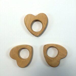 Figura de madera corazón