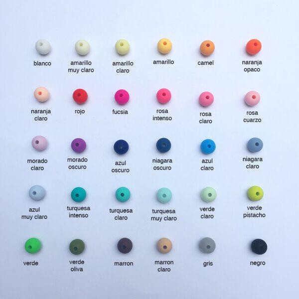 Bolas 10mm de silicona alimentaria