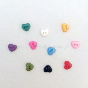 Mini botones de corazón 6mm