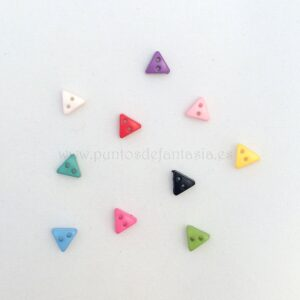 Mini botones de triángulo 6mm