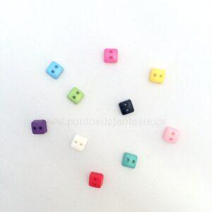 Mini botones de cuadrado 6mm