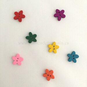 Botones Madera Flor